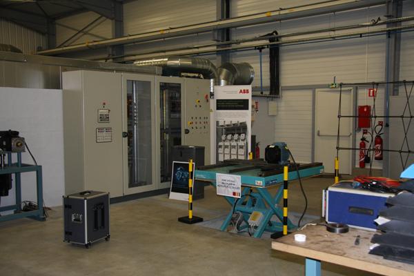 Banc d'essais moteurs en atelier