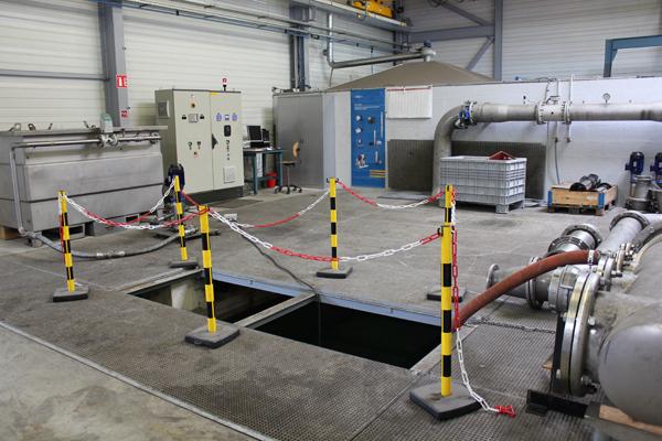 Banc d'essais pompes en atelier